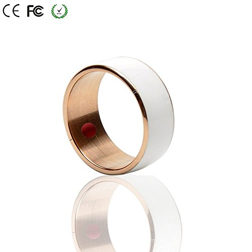 Smart Ring,COOSO R3F Newest Magic Smart Ring Universal For All Android Windows NFC Cellphone Mobile Phones.White,Size 7(one year free warranty)