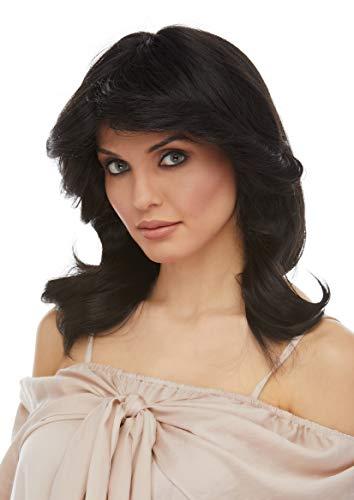 Charlie's Angels 70s Wig Color Black - Sepia Costume Wigs Farrah Long Wavy Mid Back Length 70s Woman Ladies Dectectives