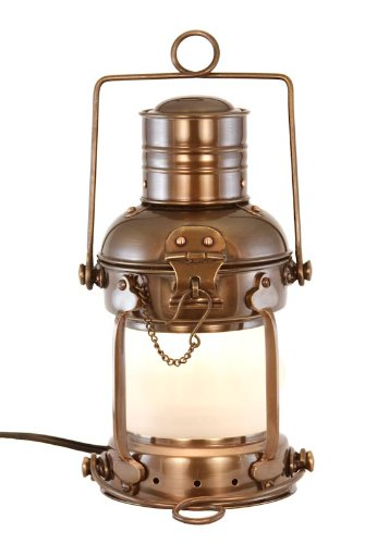 Vermont Lanterns - Electric Nautical Brass Anchor Lamp (10