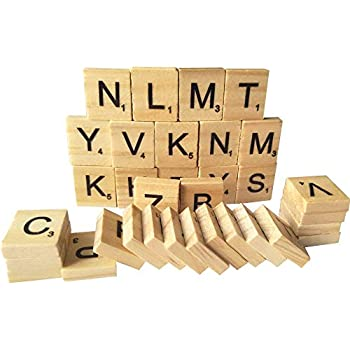 200 wooden alphabet scrabble tiles a zall letters includecapital mixed letters for crafts