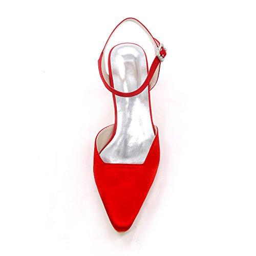 Mariage Bloc Ivory De Soirée Et Été Printemps Ivoire Pour Base Pompe Boucle Talon Ivory De Carrée Mariage Chaussures Fête Femmes Satin 41 Chaussures Boucle De La qUfx4qvHw
