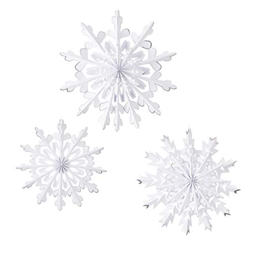 Martha Stewart 30068368 Paper Rosette Snowflakes Holiday Décor, White