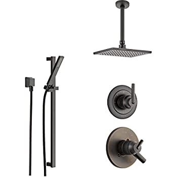 Delta Trinsic Venetian Bronze Shower System with Dual