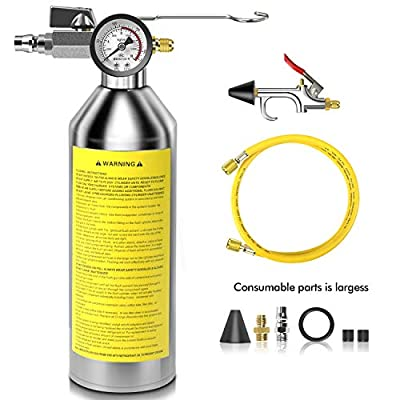 FOUR UNCLES IRONCUBE AC Flush Kit,A/C Air Conditioner System Flush Canister Kit Clean Tool Set R134a R12 R22 R410a R404a for Auto Car with 3.5 ft Hose American Interface: Automotive