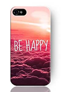 SPRAWL New Fashion Design Hard Skin Case Cover Shell for Mobile Phone Apple Iphone 5 5S--Words on Purple Pink Cloudy Sky