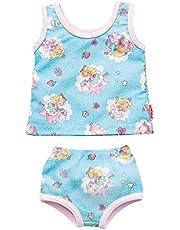 Heless 2410 - Ondergoedset voor poppen in design eenhoorn Emil en Fee Emma, 2-delig met onderhemd en slip, maat 35 - 45 cm