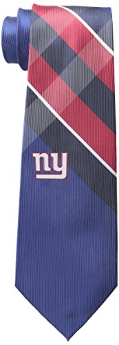 NFL New York Giants Men's Woven Polyester Grid Necktie, One Size, Multicolor