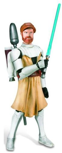 Star Wars 2010 Clone Wars Animated Action Figure CW No. 02 ObiWan Kenobi