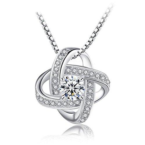 Creativelife Silver Plated Zircon Eternal Star Women Necklace