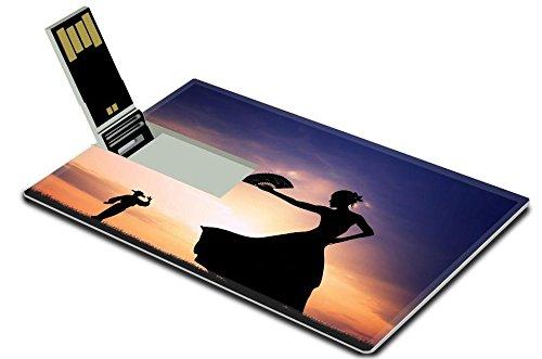 [Luxlady 8GB USB Flash Drive 2.0 Memory Stick Credit Card Size IMAGE ID 21164112 Flamenco silhouette at] (Female Flamenco Dancer Costumes)