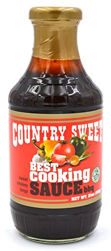 Country Sweet Sauce - Premium Cooking and Finishing Sauce (BBQ, 21 ounces) (Best Ever Teriyaki Sauce Recipe)
