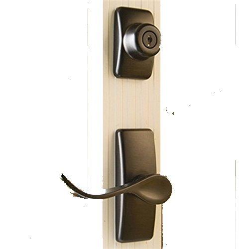 Storm Door Hardware Lever 2 Piece Surface Mount Oil Rubbed Bronze 3/4 Inch Thick Door by Hardware Specitalies, Inc (Image #6)