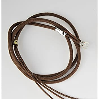 Amazon.com: Cloth Covered Telephone Line Phone Cord - Brown - Spade ...