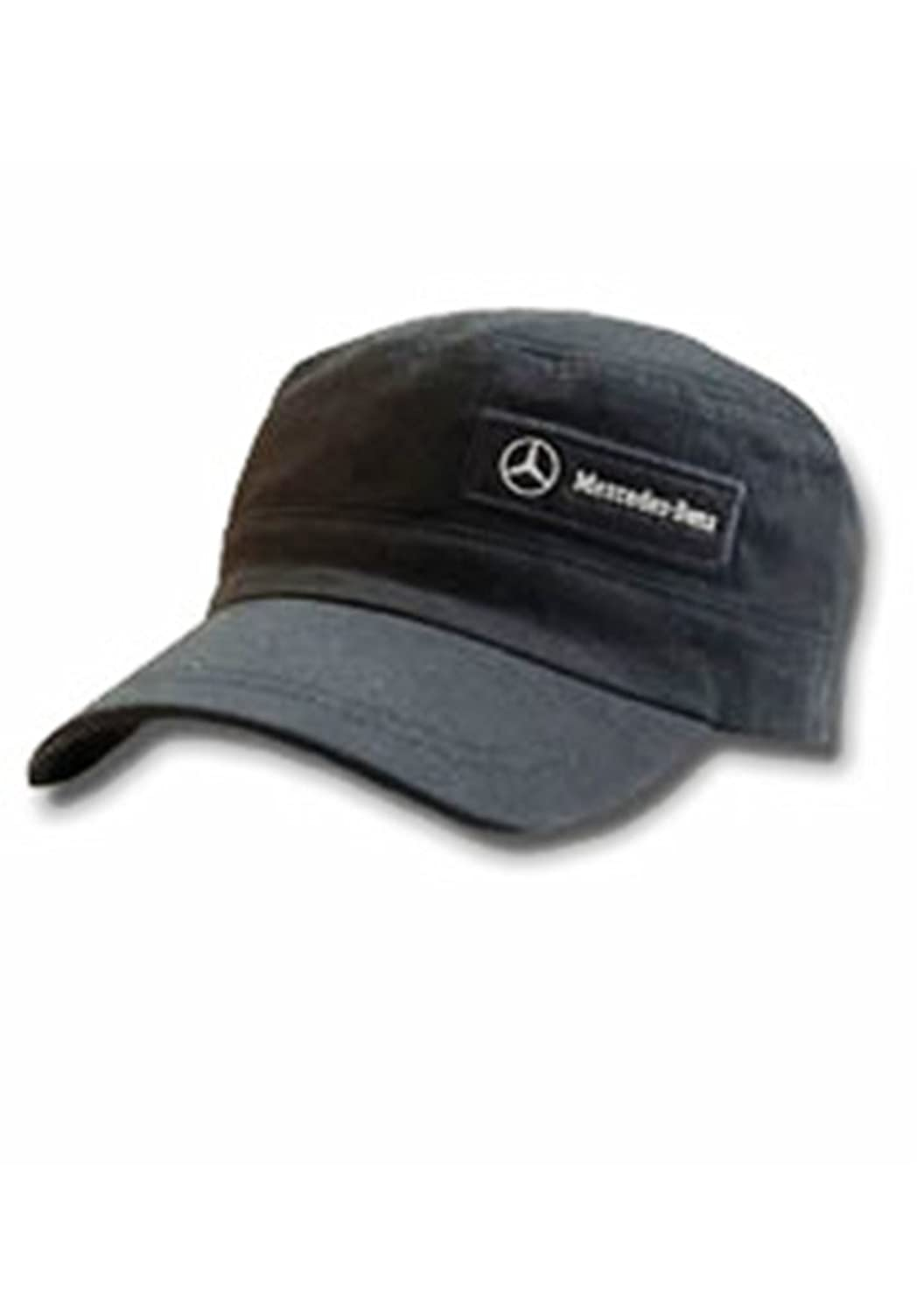 Genuine mercedes benz military cap hat black apparel for Mercedes benz hat amazon