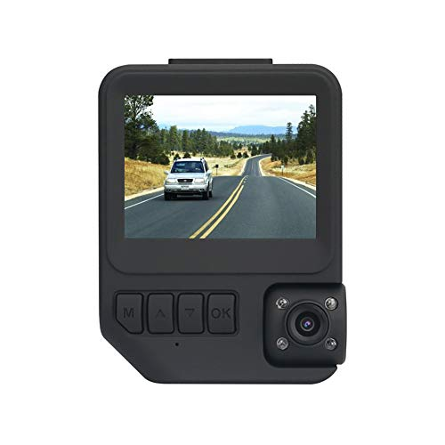Car Dash Cam Two Cameras-Amacam AM-C19 Night Vision DVR 1080P Superior Dual Video Recording External Video Vehicle Recorder & Internal Cabin Recorder Car & Taxi Black Box Security Dashcam