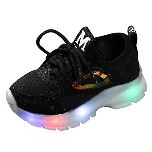 Baby Boys Girls LED Light Shoes - Kids Breathable Luminous Outdoor Sport Running Sneakers Casual Shoes
