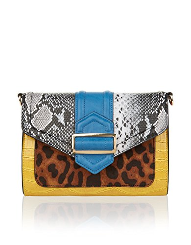 Accessorize Womens Multi Patchwork Buckle Envelope Across Body Bag Size One Size Multi