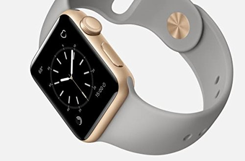 Apple Watch Series 2 38mm Smartwatch (Gold Aluminum Case, Concrete Sport Band) (Renewed)