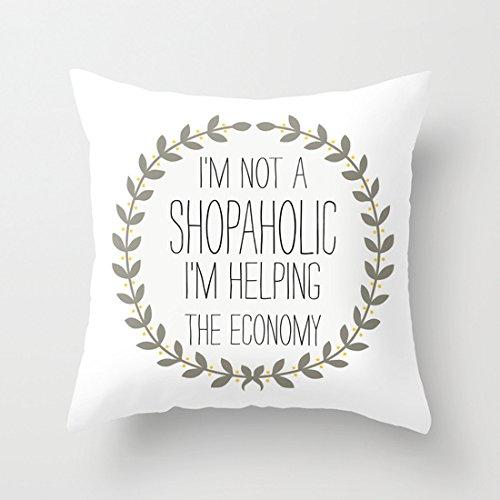 Comi Im Not a Shopaholic Home D¨¦cor Pillowcases decorative pillow covers 20x20 (Sunbrella Sofa Sleeper)