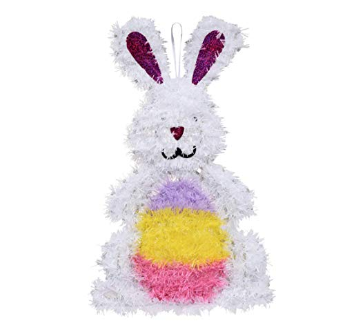 P2P Products Easter Egg Bunny Tinsel Wall Wreath Decor Decoration (~Bonus~ Happy Easter Colorful Easter Eggs Door Cover) 14