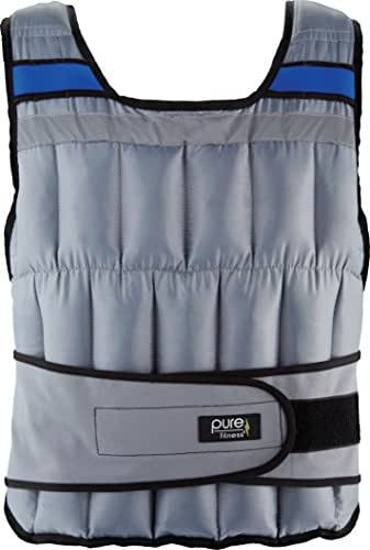 Pure Fitness Adjustable Weighted Exercise/Training Vest, One Size Fits Most (20 and 40 Pounds)