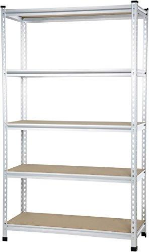 AmazonBasics Medium Duty Shelving Double-Post Press Board Shelf - 48 x 18 x 72 by AmazonBasics