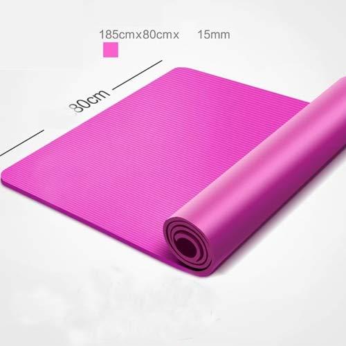 80cm 15mm B zhenyifan996 Tapis De Yoga Anti-d/érapant Veule Fitness Pilates Maison D/'entra/înement Gym Sport Mat 185