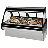 Federal Industries MCG-454-DF Curved Glass Refrigerated Seafood & Fish Maxi Case