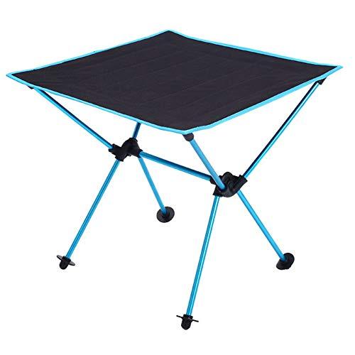 KKDWJ Acampa Plegable Mesa, Mesa de jardin portatil Oxford Tela con Bolsa de Transporte, para la excursion al Aire Libre Barbacoa o Pesca,Azul