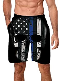 50afa9aedd Mens Swim Trunks 3D Print Quick Dry Beach Board Shorts with Mesh Lining