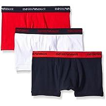 Emporio Armani Men's Colored Stretch Cotton 3 Pack Boxer Brief