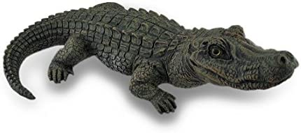 Lifelike Alligator Statue Gator Garden Decoration 20 in.