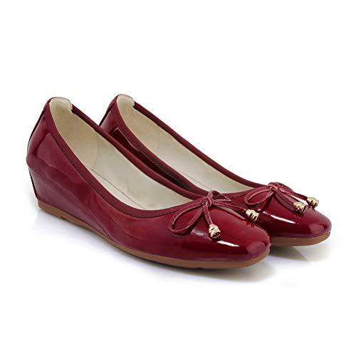 36 SDC05981 5 EU AdeeSu Compensées Rouge Bordeaux Sandales Femme YqWw1a