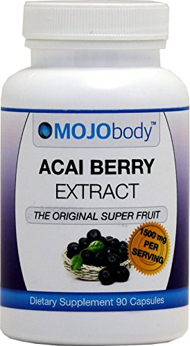 Capsules Fruits 90 Radical (MOJObody Acai Berry Extract, 1500mg 90 Capsules,The Original Super Fruit, Boost Energy, Helps with Weight Loss,Combats Free Radicals)