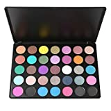 Professional Highly Pigmented 35 Colors Eyeshadow Palette - Matte + Shimmer - Natural Nudes Neutral Rainbow Smoky - Velvet Smooth Texture Blendable Powder - Waterproof & Long-Lasting Eye Makeup
