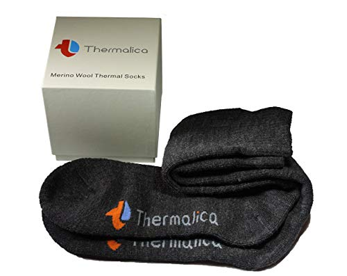 Thermalica Luxury Thermal 80% Merino Wool Socks - Calf High, Thick, Soft for Cold Weather. Indoor and Outdoor Activities