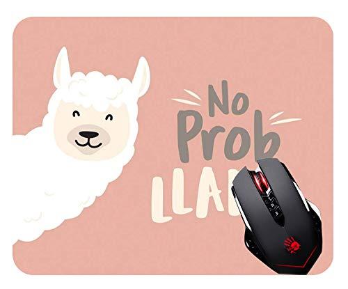 Abili Llama Gaming Mouse Pad - Cute Llama Design with No Prob Llama Motivational Quote Personalized Design Non-Slip Rubber Mouse pad Mousepad