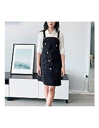 FEIHAN Stylist Apron Adjustable Unisex Cobbler Uniforms with Pockets Art Smock Aprons for Women Beauticians for Workwear (Color : B1, Size : 63 * 83cm)