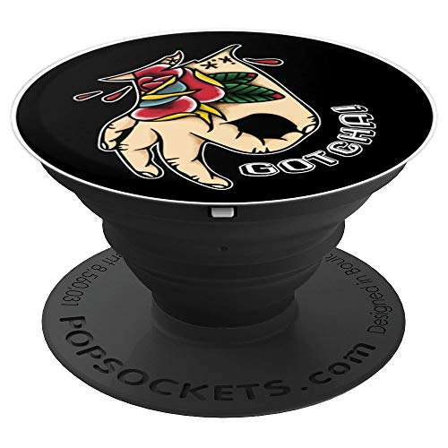 Gotcha Circle Game Tattoo Design - PopSockets Grip and Stand for Phones and Tablets ()