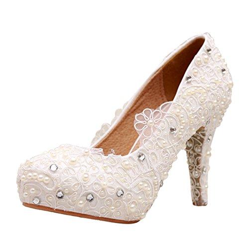 Minitoo ,  Damen Plateau Ivory-10cm Heel