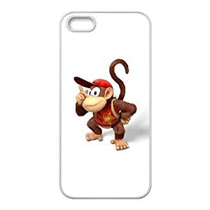iPhone 5 5s Cell Phone Case White diddy kong donkey kong country tropical freeze Popular games image WOK1025790