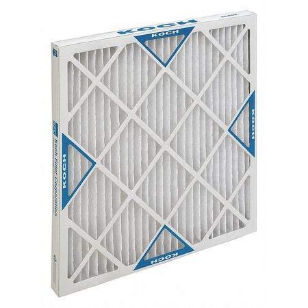 High Capacity Pleated Air Filter, Heavy Duty, 24″x24″x2″, MERV 13, Min. Qty 12, (Pack of 12)