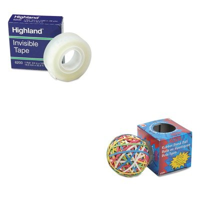KITACC72155MMM6200341296 - Value Kit - Acco Rubber Band Ball (ACC72155) and Highland Invisible Permanent Mending Tape (MMM6200341296)