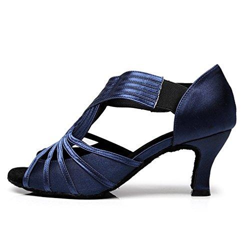 Sandaalit Giy Tango Kantapää Salsa Morden Tanssi Naisten Satiini Tanssikengät Osapuolen Tanssisali Latin Bq0UT