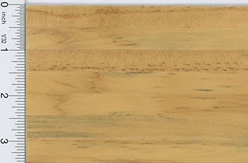 Dollhouse Miniature 1:12 Natural Finish Self Stick Wood Flooring Sheet (1/2 Inch Slat)