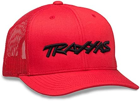S//M 1187-RBL-SM Basecap Base Cap Traxxas Cap Flex Hat Curve Bill Red//Black Gr