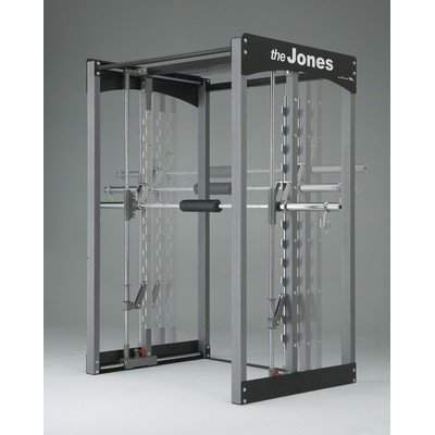 Jones Light Commercial Power Rack Lat Attachment: Included, Cable Crossover: Included, Bar Type: Active Balance Bar