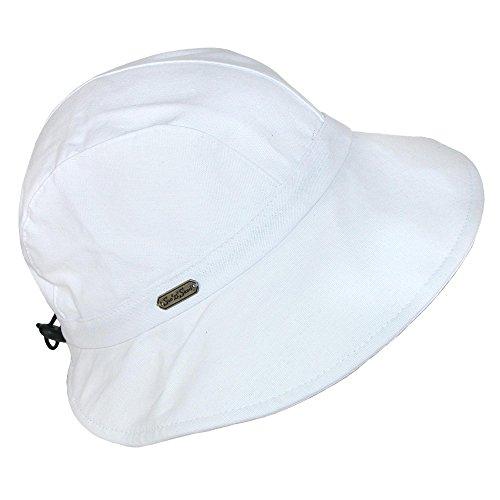 Sun N' Sand Breezy Drawstring Hat, White