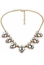 NEW Signature Masino Collection Margaux Beetle Pastel Vanilla Clear White Necklace