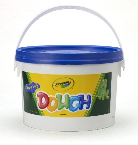 crayola-dough-blue-3lb-bucket-crumble-free-great-for-sculpting-school-projects-arts-crafts